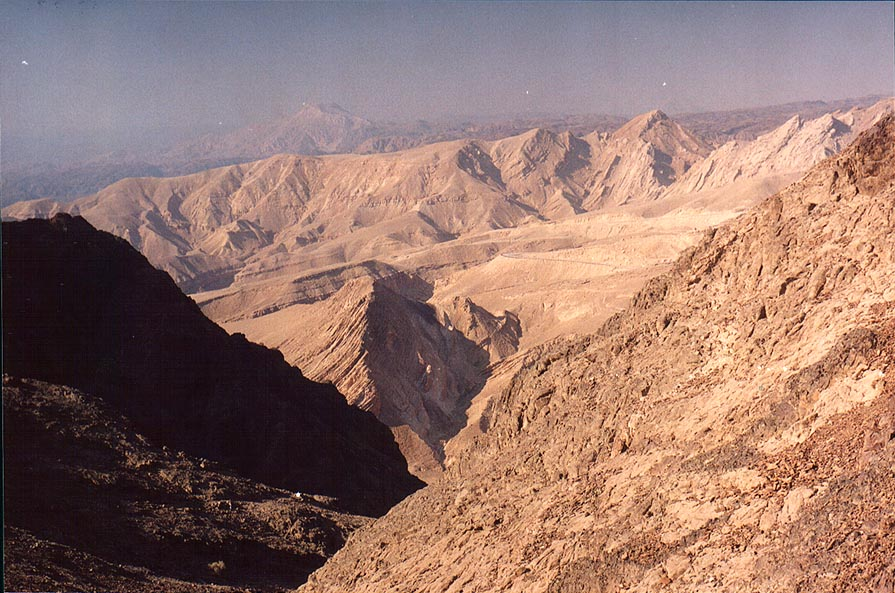 View to south-west from a ridge 0.5 miles north...north-west from Eilat. The Middle East