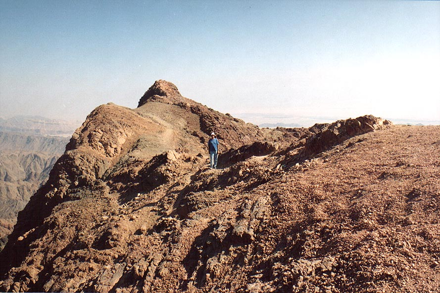 View to the east from Mount Shelomo, 2.5 miles north-west from Eilat. The Middle East