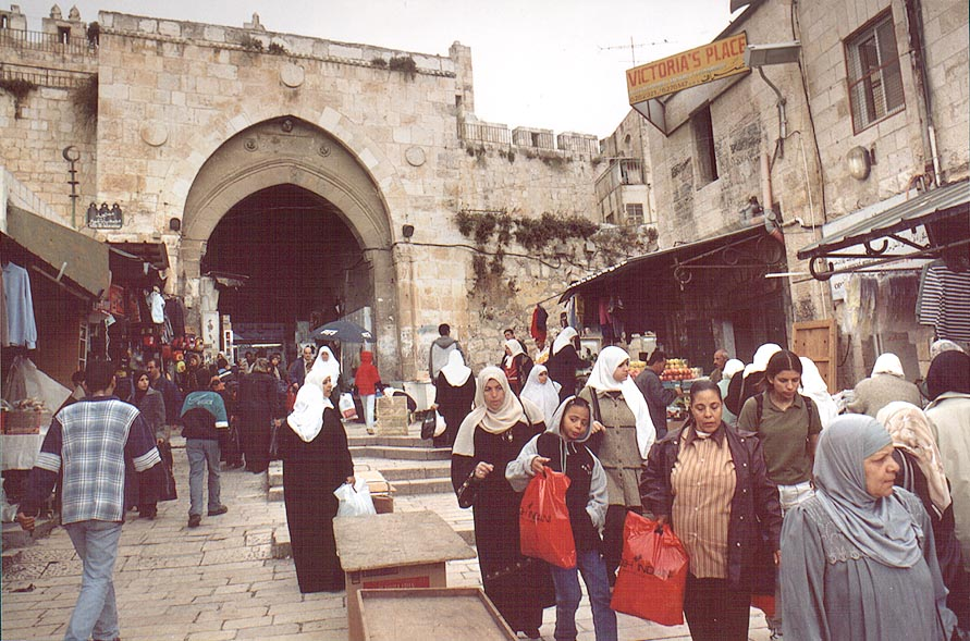A market in Old City behind Damascus Gate. Jerusalem, the Middle East
