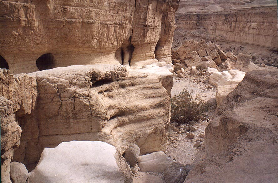 A fall at the beginning of the lower canyon of...from Arava junction. The Middle East