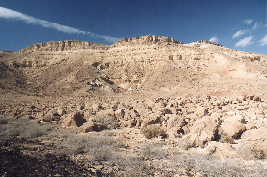 Bottom of the crater, down from Mitzpe Ramon. The Middle East