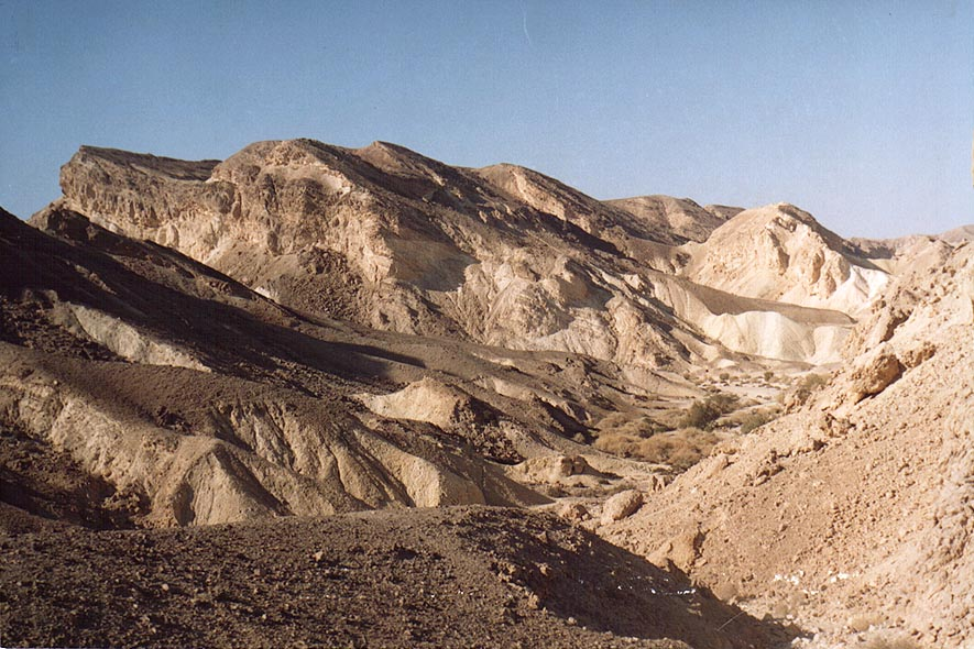 Landscape along Rd. 40 to Eilat, near Hameshar Ascent. The Middle East