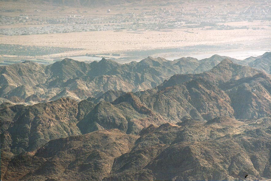 Eilat mountains, view from Roded ascent. The Middle East
