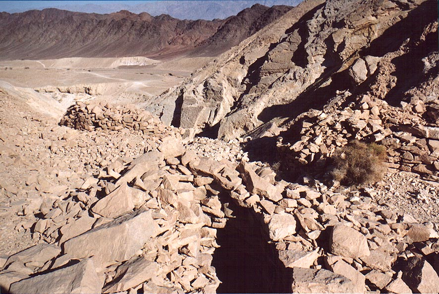Remains of Byzantine houses of quarries of Boded...north-west from Eilat. The Middle East