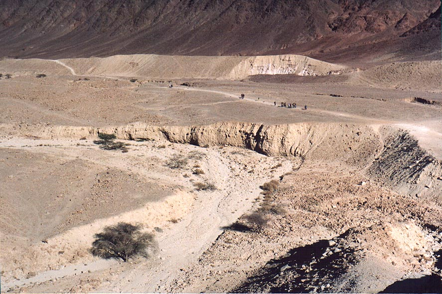 Descending to Roded Valley, 4 miles north-west from Eilat. The Middle East