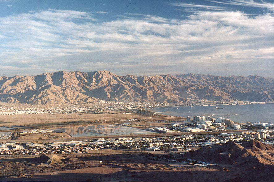 Ponds in Arava Valley in eastern Eilat and Edom...Shahmon at evening. The Middle East