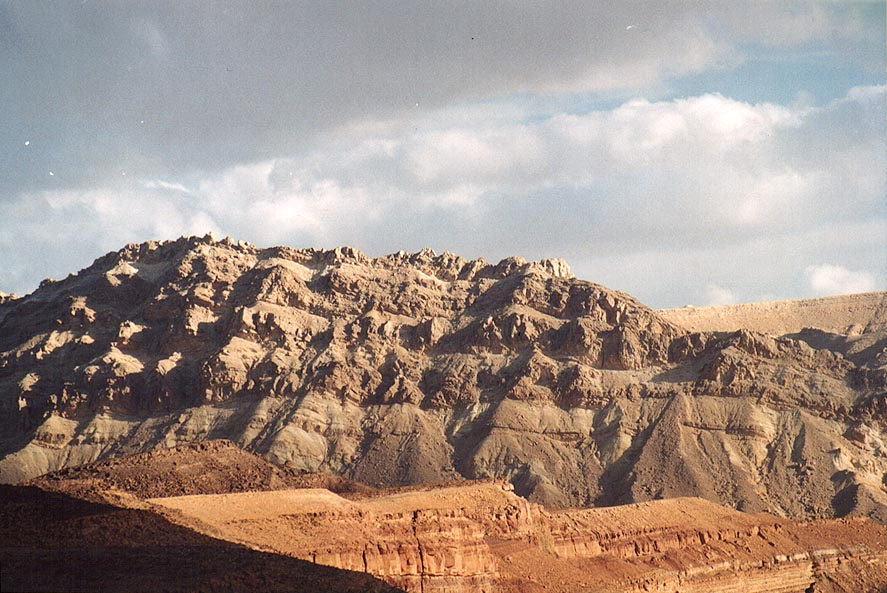 Ramon Crater east from Mitzpe Ramon, view to...place at Ardon Creek. The Middle East