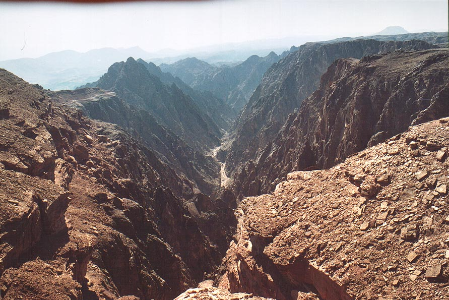 Northern end of a narrow canyon through magmatic...north-west from Eilat. The Middle East