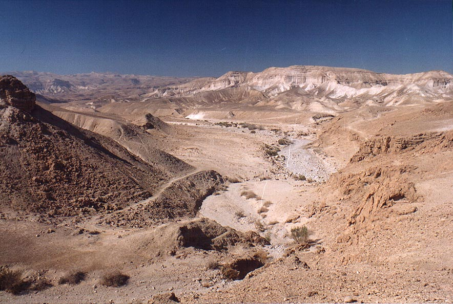 Judean Desert 2 miles south from Masada, above Rahak creek. The Middle East