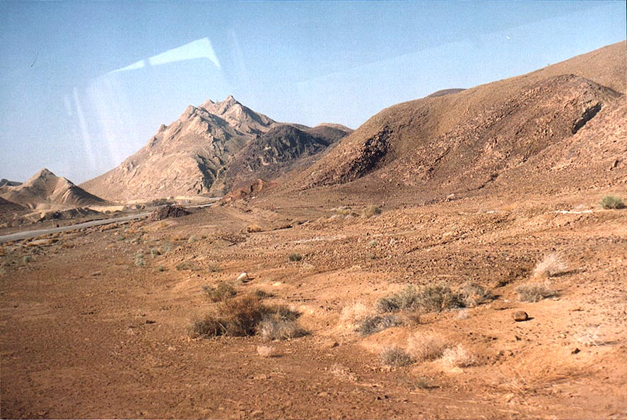 Area of Ammonites Wall south from Ramon Crater seen from Rd. 40 to Eilat. The Middle East