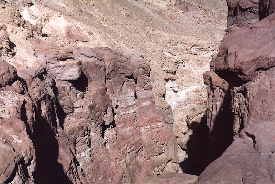 A sandstone canyon west from Mount Amir, 5 miles north from Eilat. The Middle East