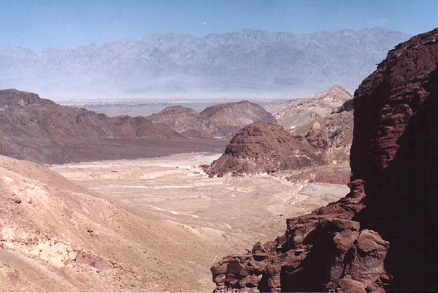 View of a valley of Amram river from a passage...north from Eilat. The Middle East