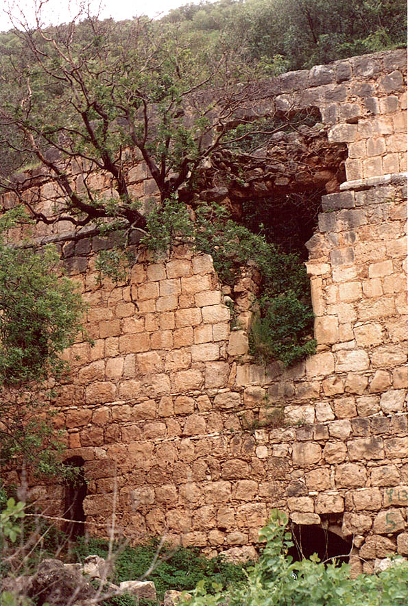 A lower house of Montfort Castle at Nahal Keziv...from Mi'ilia. Galilee, the Middle East