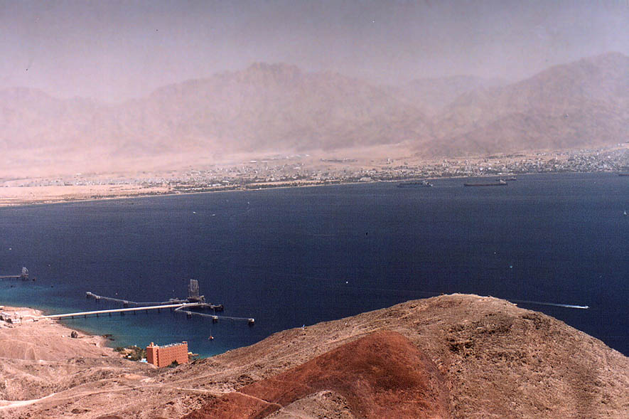 Oil terminal in the Red Sea south from Eilat...the Field School. The Middle East
