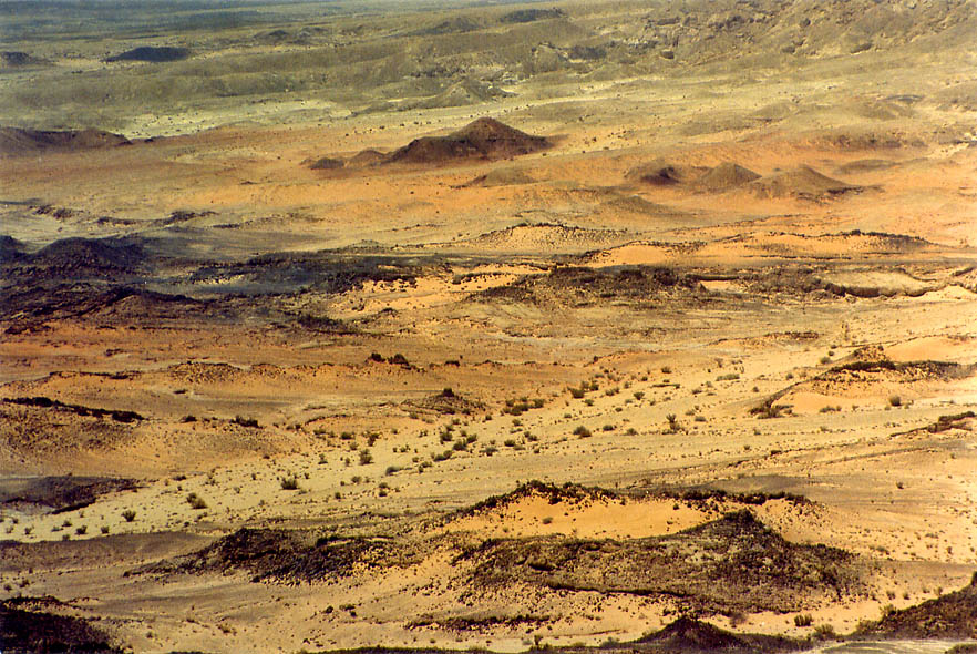 Bottom of Ramon Crater south from Mount Ardon. The Middle East