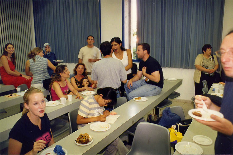 Last Hebrew class in University of the Negev (BGU). Beer-Sheva, the Middle East