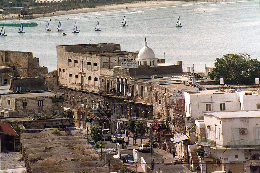 View of Old City and the bay from Citadel. Akko, the Middle East