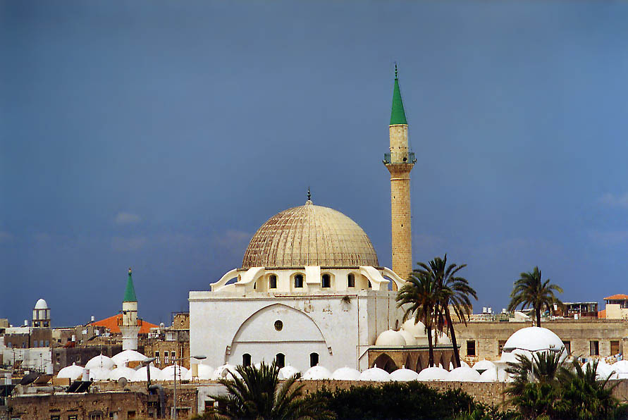 Great Mosque, view from city walls. Akko, the Middle East