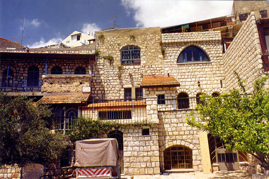 Houses on a slope of a hill. Sfat (Safed), the Middle East