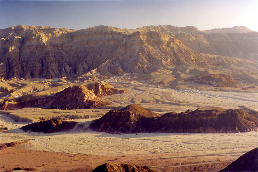View of Timna Cliffs from Timna Stage. 13 miles north from Eilat, the Middle East