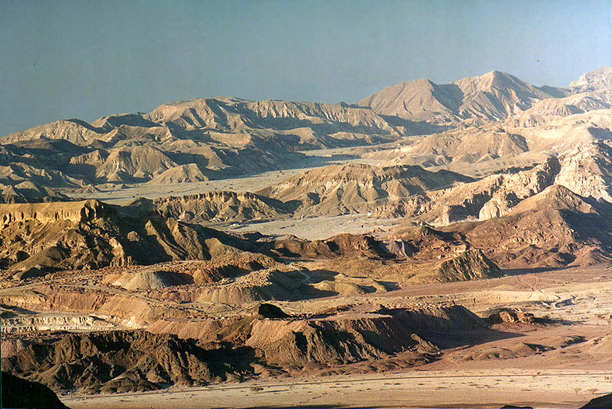 View of to the south from Timna Stage in Timna...north from Eilat, the Middle East
