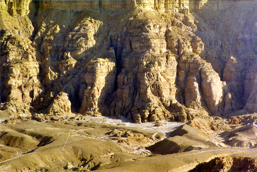 Timna Cliffs from Timna Stage (a flat tabletop of...north from Eilat, the Middle East