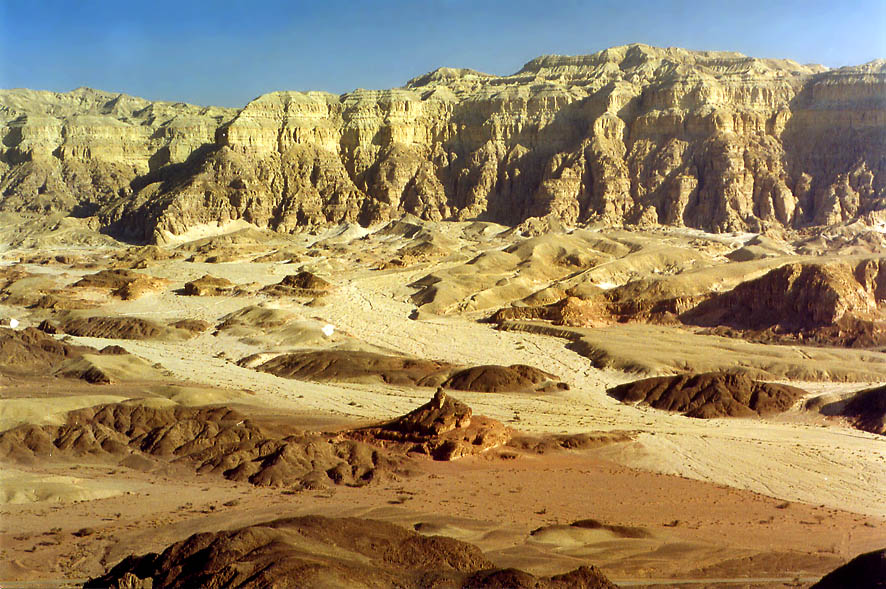 Spiral Hill and Timna Cliffs from Timna Stage (a...north from Eilat, the Middle East