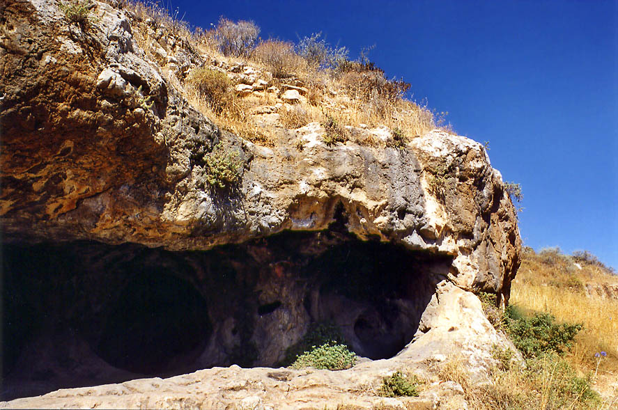 Caves of Nahal Halilim Creek west from Jerusalem, the Middle East