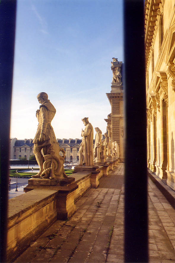 Louvre, terrace of the 2nd floor. Paris