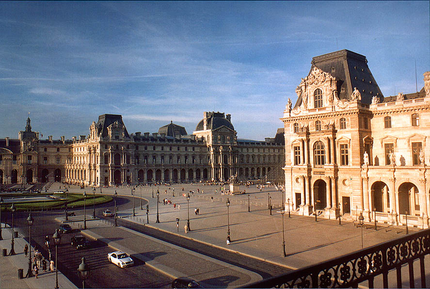 Louvre, from terrace of the 2nd floor. Paris