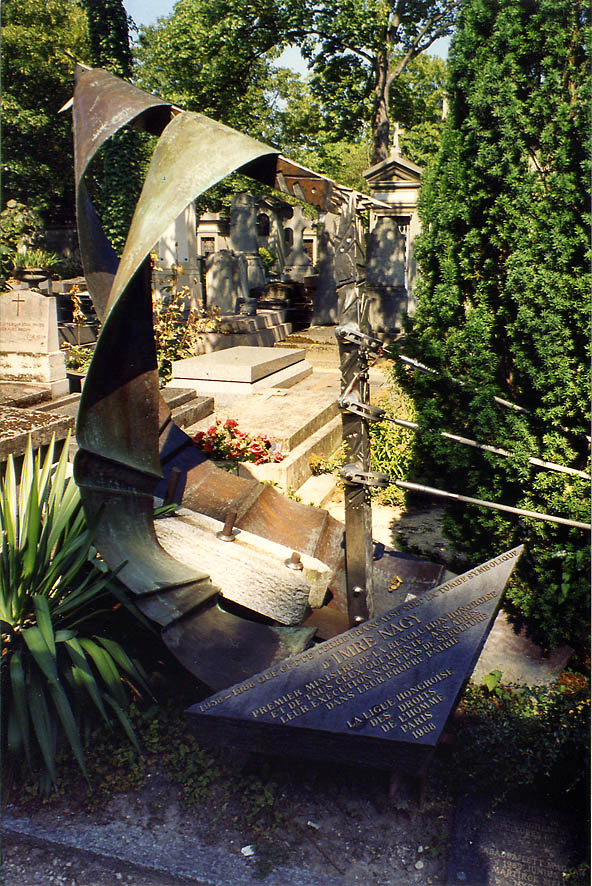 Tomb of Imre Nagy in Cemetery Pere Lachaise. Paris
