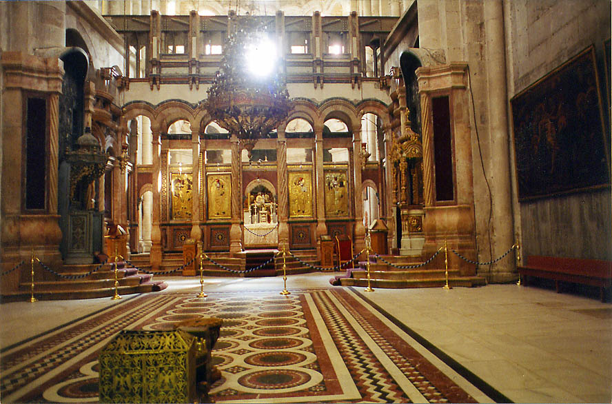 Catholicon Hall in the Church of Holy Sepulchre. Jerusalem, the Middle East