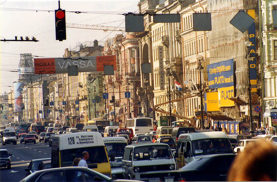 Nevsky Prospect, the main street in St.Petersburg. Russia