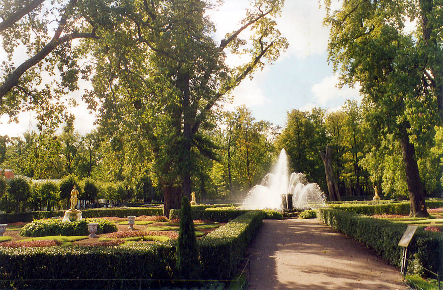 Fountain 'Snop' (sheaf) in Monplezir Pavilion in...now a suburb of St.Petersburg. Russia
