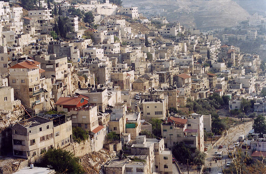 Silwan (Shiloah) village on slope of Kidron...Ofel Rd.. Jerusalem, the Middle East