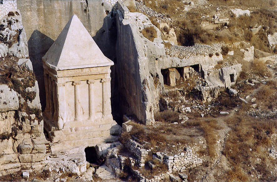 Tomb of Zechariah (Pyramid of Zacharias) in...Ofel Rd.. Jerusalem, the Middle East