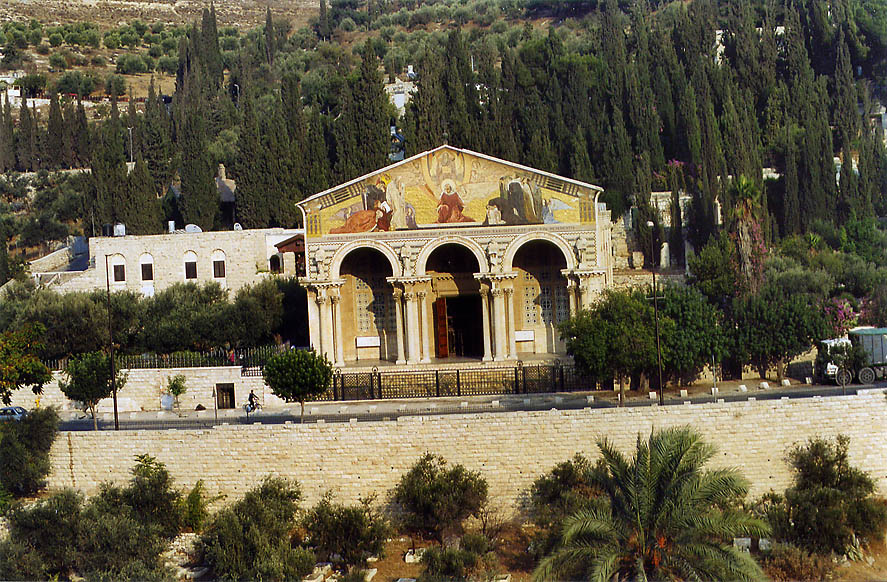 Gethsemane Church of All Nations on slope of...Ofel Rd.. Jerusalem, the Middle East