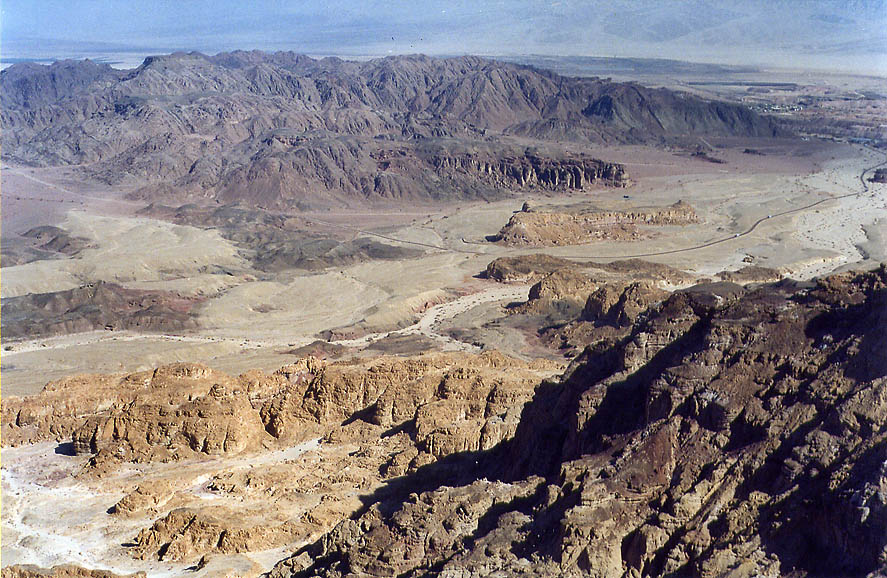 Massif Timna and Timna Valley from western cliffs...north from Eilat. The Middle East