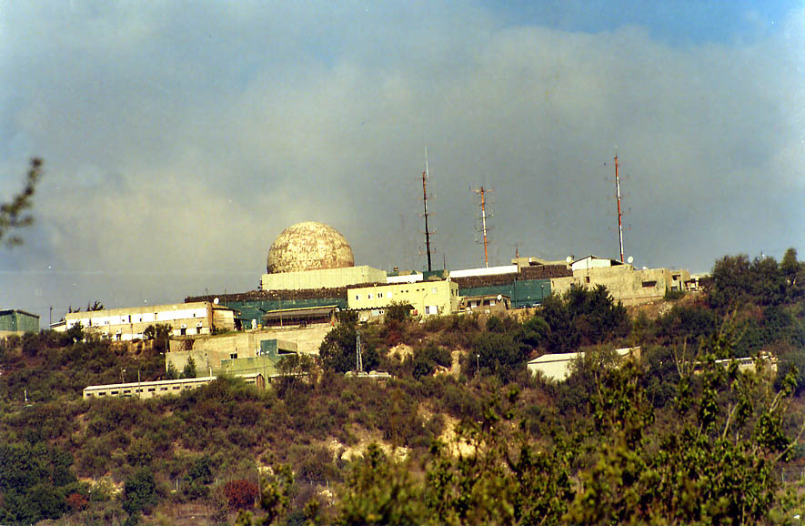 A military radio-location station on the summit of Mount Meron in Galilee. The Middle East