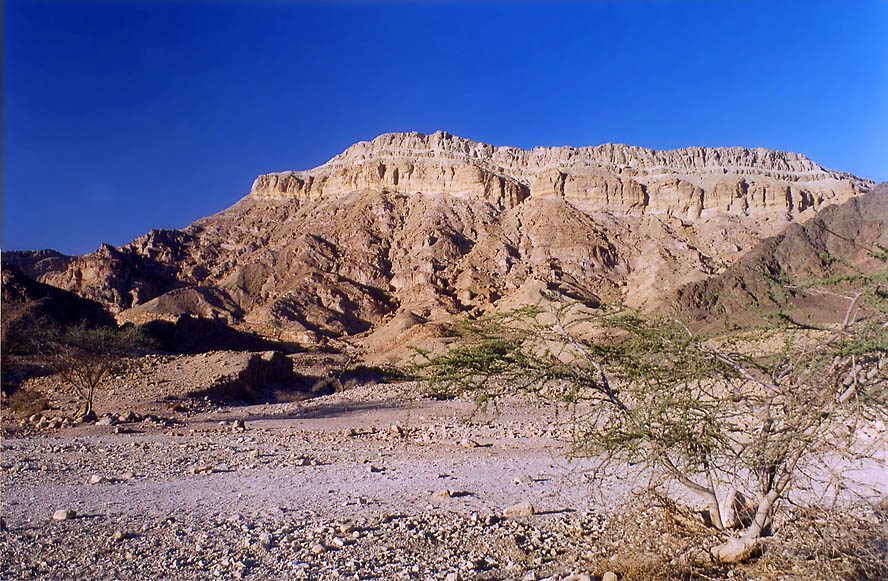 Roded Wadi and Mount Shehoret north from Eilat. The Middle East