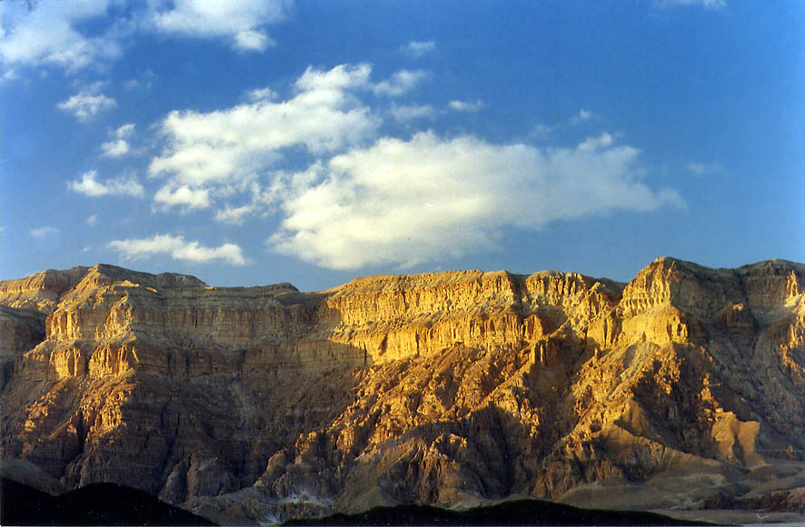 Timna Cliffs, view from a road behind the park...minutes before sunset. The Middle East