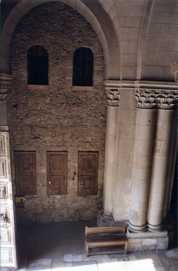 Entrance of Church of Holy Sepulchre from the Calvary. Jerusalem, the Middle East