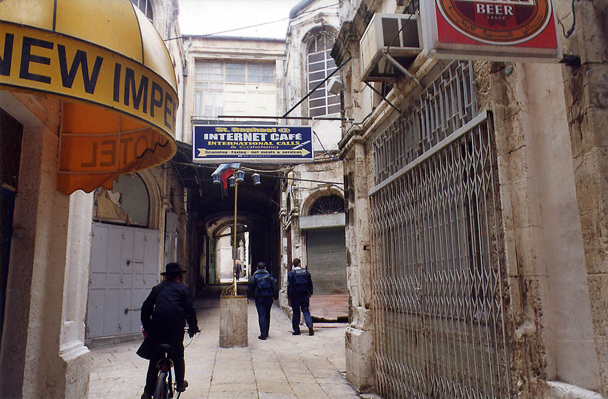 Near Greek Catholic Patriarchate in Old City of...to Jaffa Gate. The Middle East