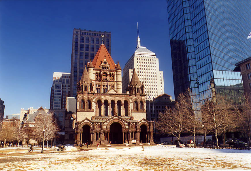 Copley Square and Trinity Church. Boston, Massachusetts