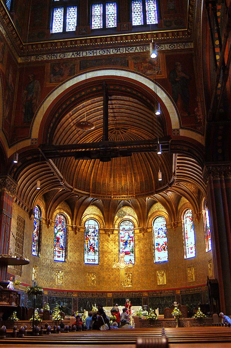 In Trinity Church. Boston, Massachusetts