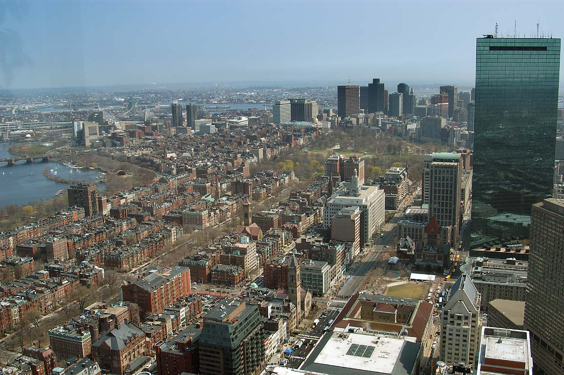 North-east from observatory of Prudential Tower. Boston, Massachusetts