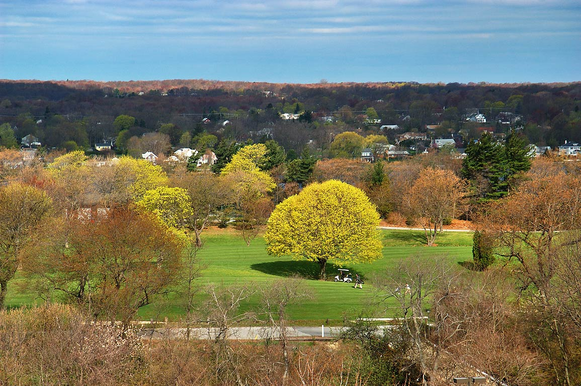 Country Club golf course from an apartment in northern Fall River. Massachusetts