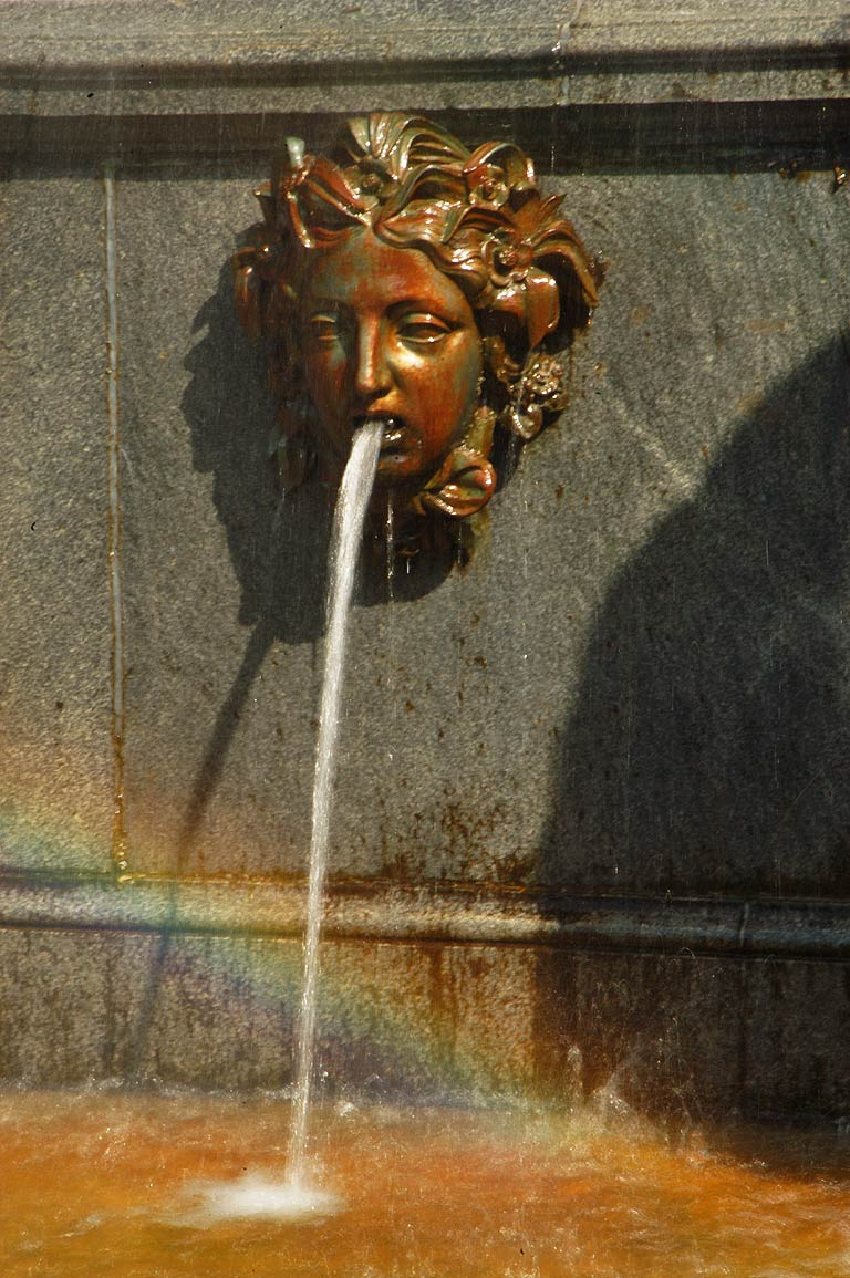 "Detail of ""Lion Cascade"" Fountain in Peterhof, a suburb of St.Petersburg. Russia"