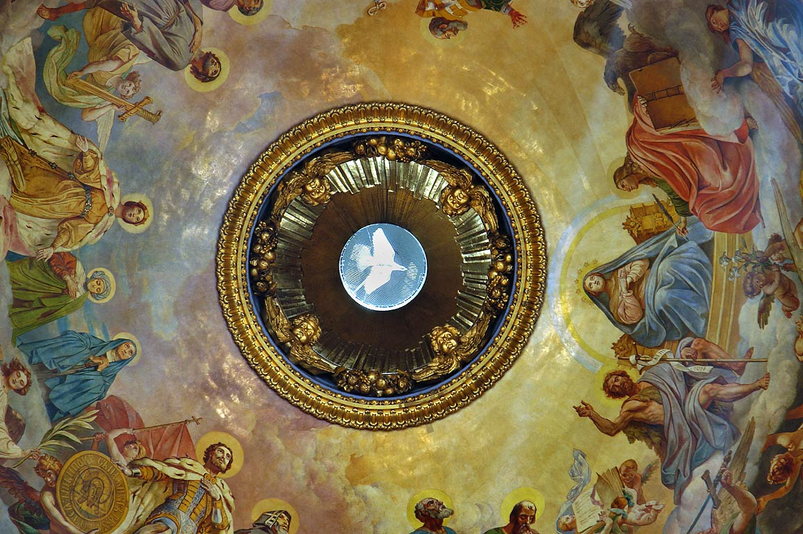 Dome of St.Isaac Cathedral, zoomed. A dove...the Holy Spirit. St.Petersburg, Russia