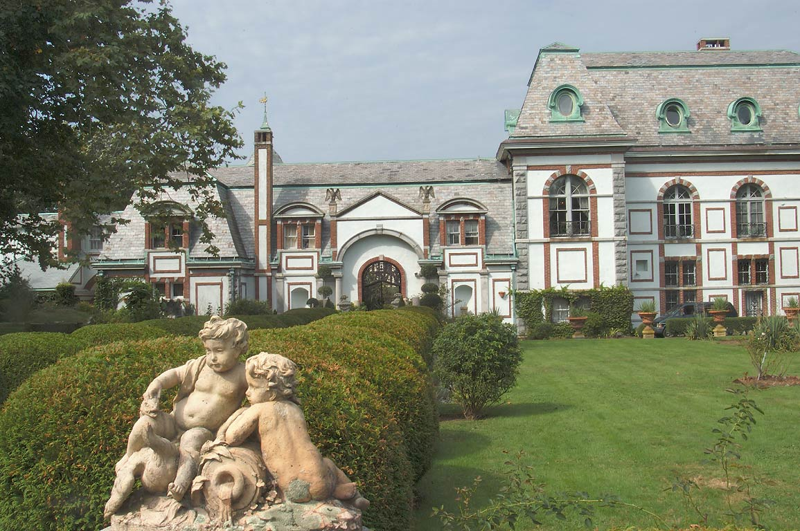 Belcourt Castle Mansion on Bellevue Ave. in Newport. Rhode Island